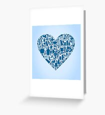 Bath heart Greeting Card