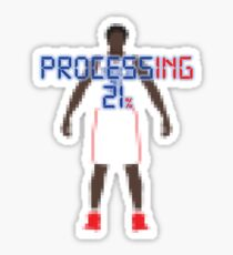 Processing 21% (Pixel White) Sticker