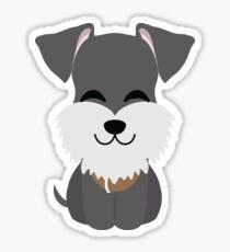 Schnauzer Dog Emoji Cheerful with Joy Look Sticker