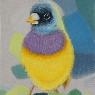 Bird Lady Gouldian Finch by HEARTartROOM