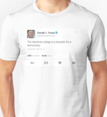 Donald Trump Electoral College Tweet Unisex T-Shirt