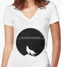 The King In The North Women's Fitted V-Neck T-Shirt