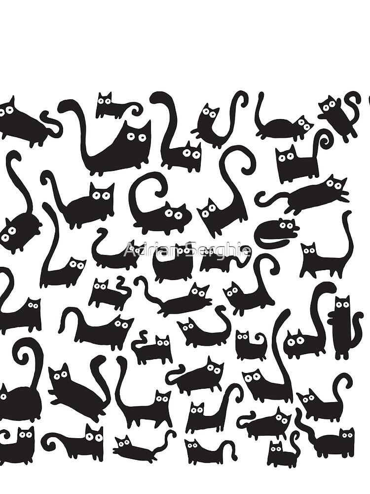 Black cats by adrianserghie