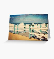 Seagull at Rest Newcastle Beach Greeting Card