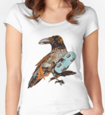 Crow boarding Women's Fitted Scoop T-Shirt