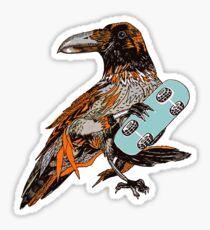 Crow boarding Sticker