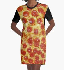 pizza Graphic T-Shirt Dress