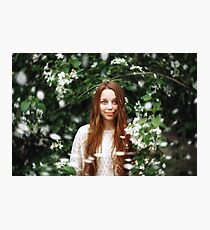 Dreamy Portrait of Young Woman Photographic Print