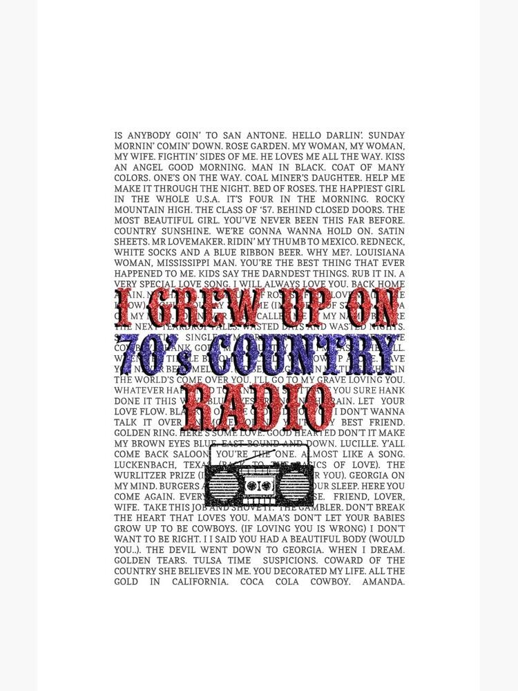 Ich wuchs auf dem Country Radio von 70 auf (weiße Telefonhülle) von ftcr