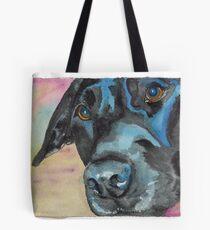 """Little Black Dog (""""Korra"""" the lab-mix) Tote Bag"""