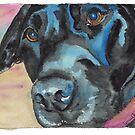 "Little Black Dog (""Korra"" the lab-mix) by Lynn Oliver"