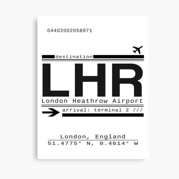 LHR London Heathrow Airport Call Letters Canvas Print