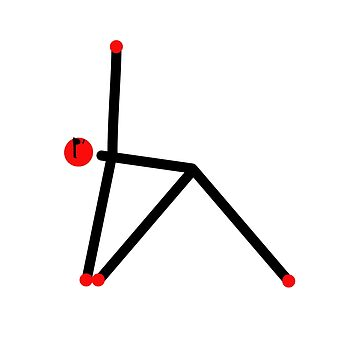Stick figure of triangle yoga pose. by Mindful-Designs