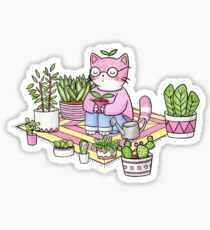 Cacti Meditation Sticker