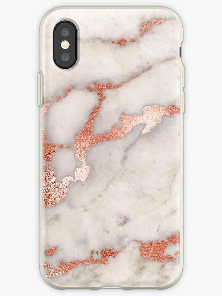 finest selection 27cf3 24d9c 'Rose gold marble phone case cover' iPhone Case by joellis