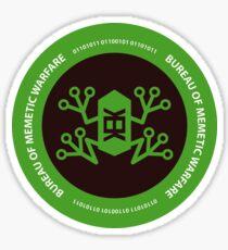 Bureau of memetic warfare green frog Sticker