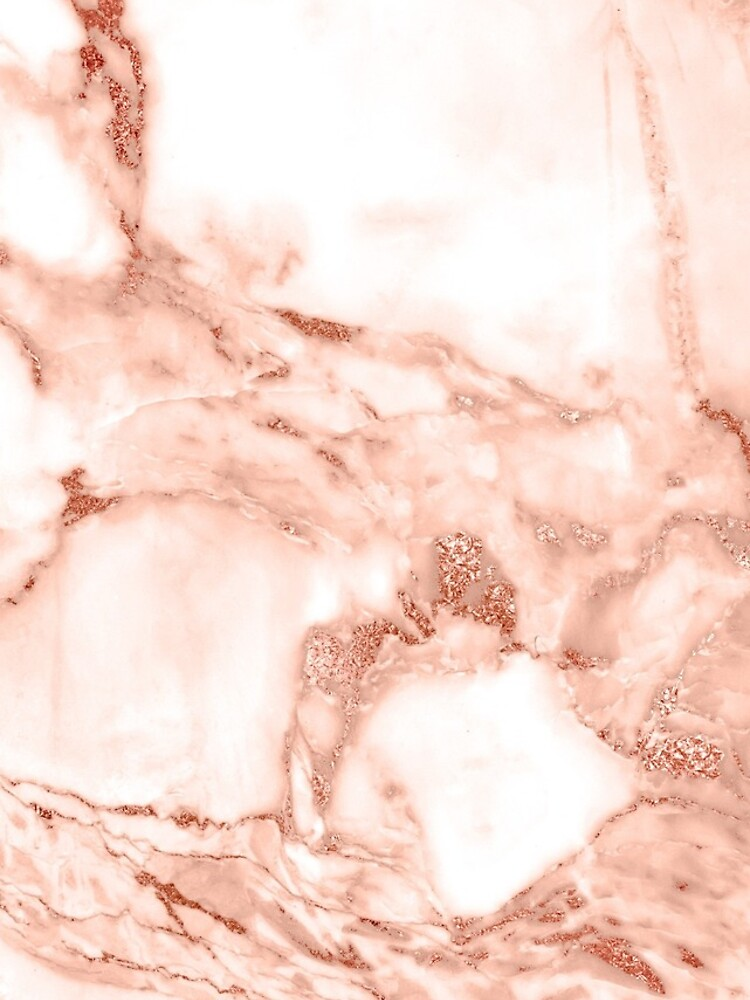 Caja de la cubierta del teléfono de la textura de mármol rosa oro de joellis