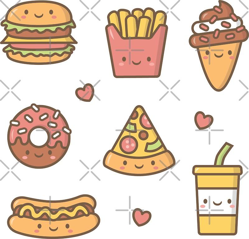 Dessin Kawai Fast Food
