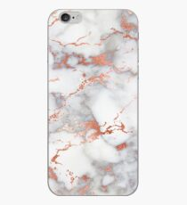 Marble with rose gold streaks phone case cover iPhone Case