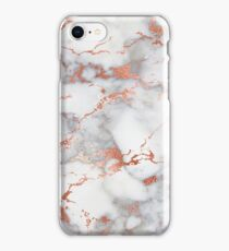 Marble with rose gold streaks phone case cover iPhone Case/Skin