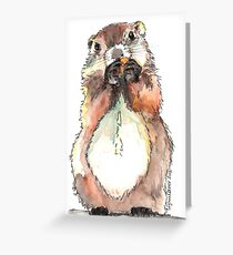 Dinky the Groundhog Greeting Card