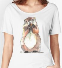 Dinky the Groundhog Women's Relaxed Fit T-Shirt