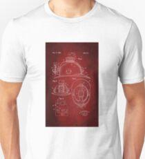 Firefighter Helmet Patent 1965 Unisex T-Shirt