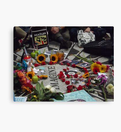 John Lennon Birthday Celebration, Strawberry Fields, Central Park, October 9, 2014  Canvas Print