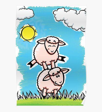 HeinyR- Sheep Friends Poster