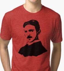Nikola Tesla Stencil Tri-blend T-Shirt