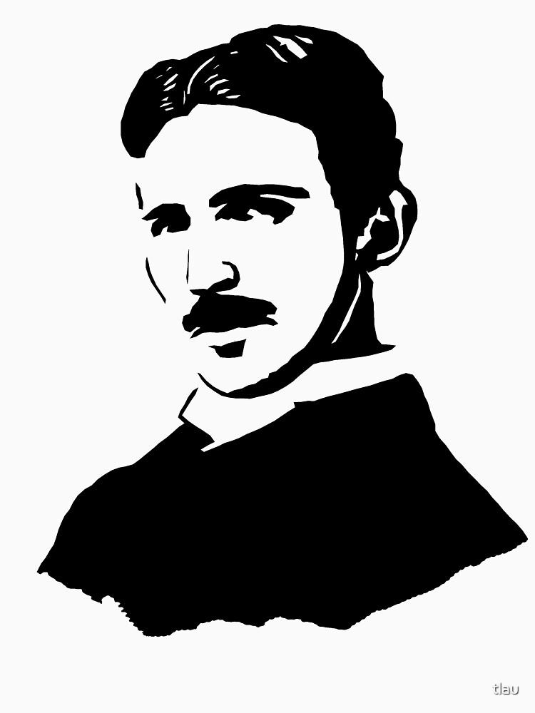 """Nikola Tesla Stencil"" T-shirt by tlau | Redbubble"