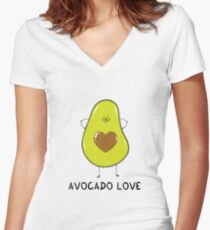 Avocado Love Women's Fitted V-Neck T-Shirt
