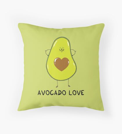 Avocado Love Throw Pillow