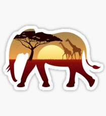 Elephant Landscape Sticker