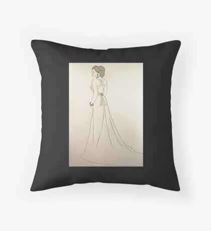 Wedding Dress No 4 Throw Pillow
