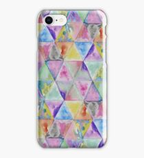 Geometric watercolor hand paint triangles pattern iPhone Case/Skin