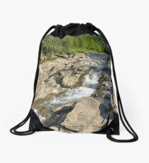 Blue whirlpools Drawstring Bag