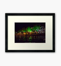Riverside houses Framed Print