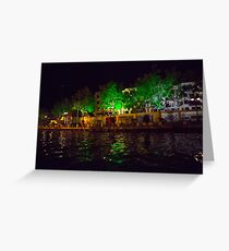 Riverside houses Greeting Card
