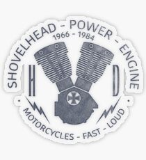Harley Davidson Shovelhead Power 1966 - 1984 Transparenter Sticker