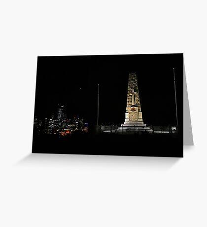 Lunar Eclipse - Perth, Western Australia Greeting Card