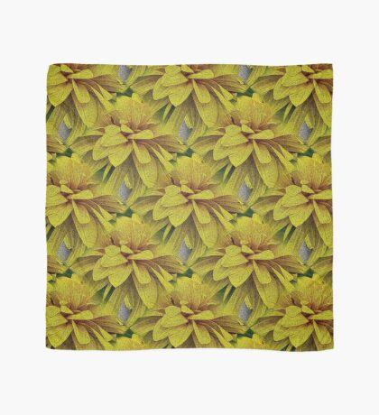 Yellow Flower Petals Nature Art Scarf