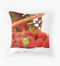 Fresh Strawberry Throw Pillow