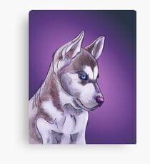 Siberian Husky illustration design Canvas Print