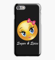 Sugar & Spice Cute Blue Eyes Emoticon iPhone Case/Skin