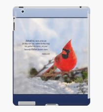 Behold the Birds of the Air iPad Case/Skin