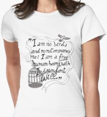 I am no bird // Jane Eyre Women's Fitted T-Shirt