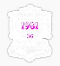 Born  in 1981 Sticker