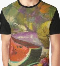 Watermelon Still Life Graphic T-Shirt