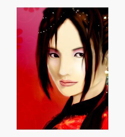Crimson Lady Photographic Print